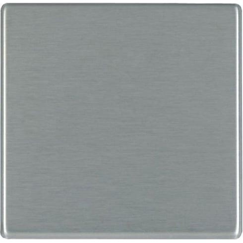 Hamilton Hartland 74CBPS Satin Steel Double Blank Plate