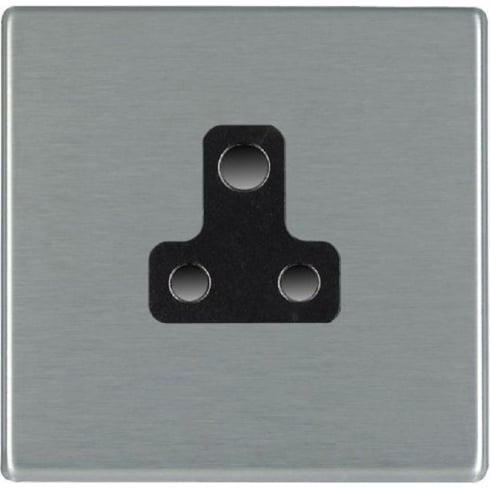 Hamilton Hartland 74CUS5B Satin Steel 1 gang 5A Unswitched Socket