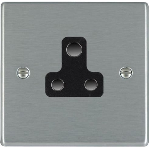 Hamilton Litestat Hartland 74US5B Satin Steel 1 gang 5A Unswitched Socket