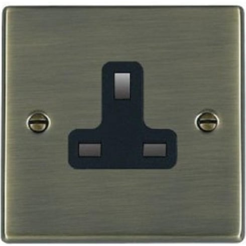 Hamilton Hartland 79US13B Antique Brass 1 gang 13A Unswitched Socket