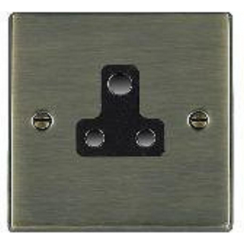 Hamilton Hartland 79US5B Antique Brass 1 gang 5A Unswitched Socket