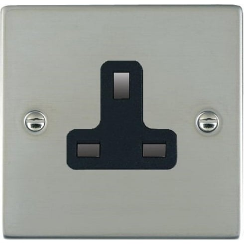 Hamilton Litestat Sheer 83US13B Bright Chrome 1 gang 13A Unswitched Socket