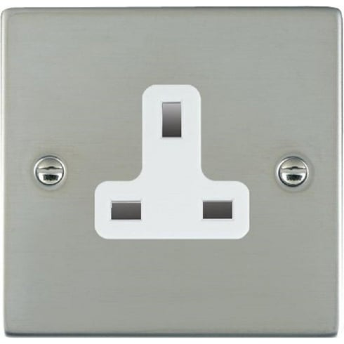 Hamilton Sheer 83US13W Bright Chrome 1 gang 13A Unswitched Socket
