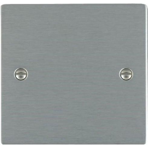 Hamilton Sheer 84BPS Satin Steel Double Blank Plate