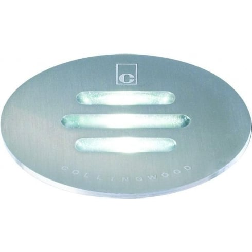 Collingwood GL021 WHITE Stainless Steel Slotted LED Ground Light