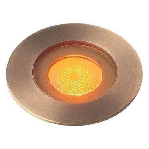 Collingwood GL016 F AB AMBER Antique Brass LED Ground Light