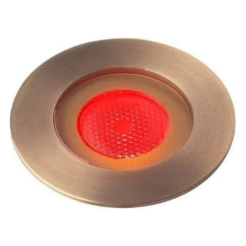Collingwood GL016 F AB RED Antique Brass 1W LED Ground Light