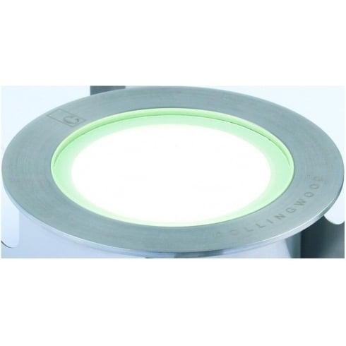 Collingwood GL050 WHITE Stainless Steel LED Ground/Marker Light