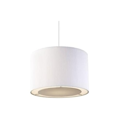 Endon Lighting Colette COLETTE-S-WH White Pleated Shade Pendant