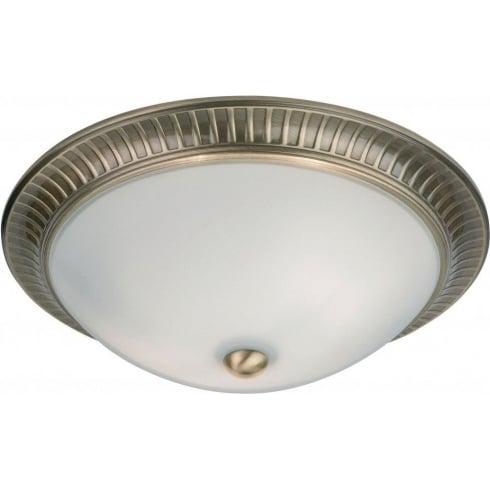 Endon 91123 Brass Semi Flush Ceiling Light