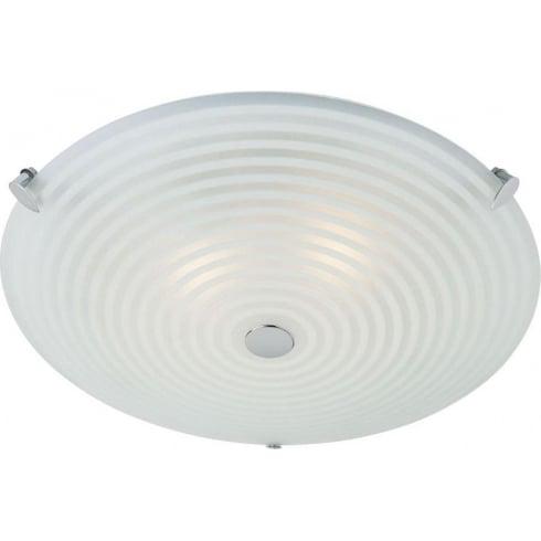 Endon 633-32 Glass Semi Flush Ceiling Light