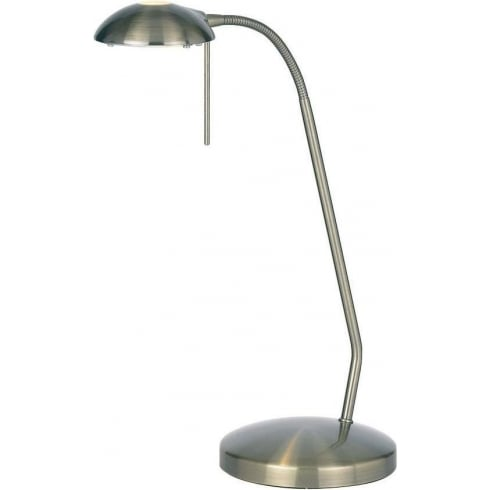 Endon 656-TL-AN Brass Table & Desk Lamp