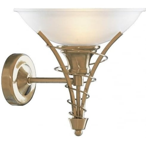Searchlight Electric Linea 5227AB Antique Brass With Opal Glass Shade Wall Light