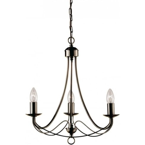 Searchlight Electric Maypole 6343-3AB Antique Brass Pendant