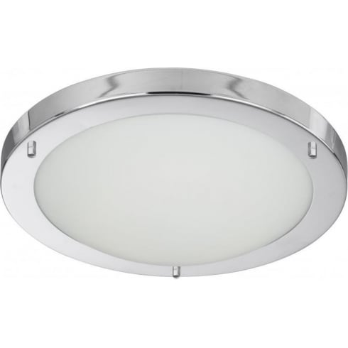 Searchlight Electric 10633CC Chrome With Opal Glass Shade Bathroom Flush Fitting