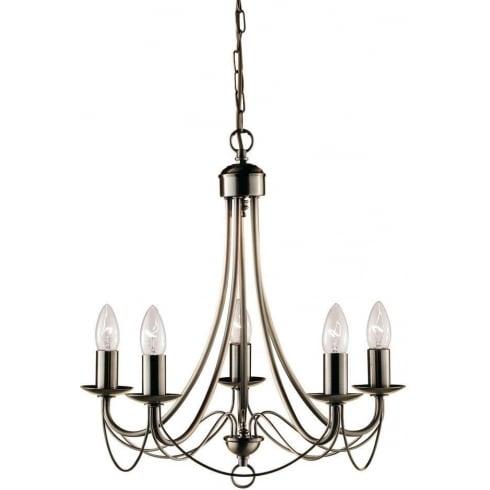 Searchlight Maypole 6345-5AB Pendant Ceiling Light Antique Brass