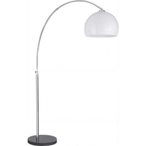 Searchlight Electric Arcs 1037CC Chrome With Thermoplastic White Shade Floor Lamp