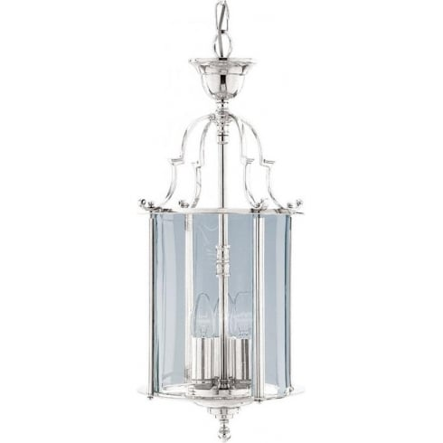 Searchlight Electric 3003-10CC Chrome With Glass Shade Lantern
