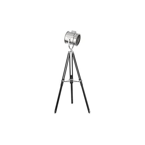 Searchlight Electric 3013 Chrome And Black Spotlight Tripod Floor Lamp