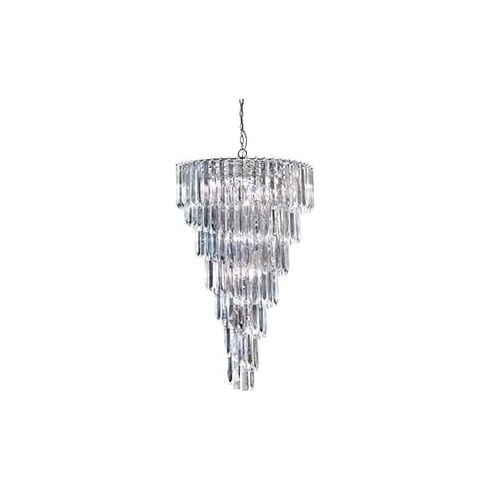 Searchlight Electric Sigma 7999-9CC Chrome And Acrylic Chandelier