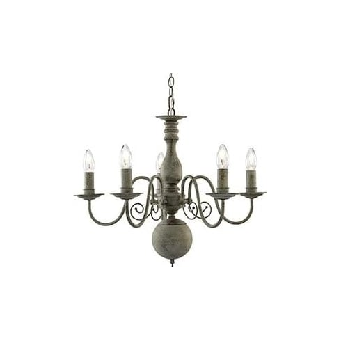 Searchlight Electric Greythorne 2265-5GY Grey Ceiling Light