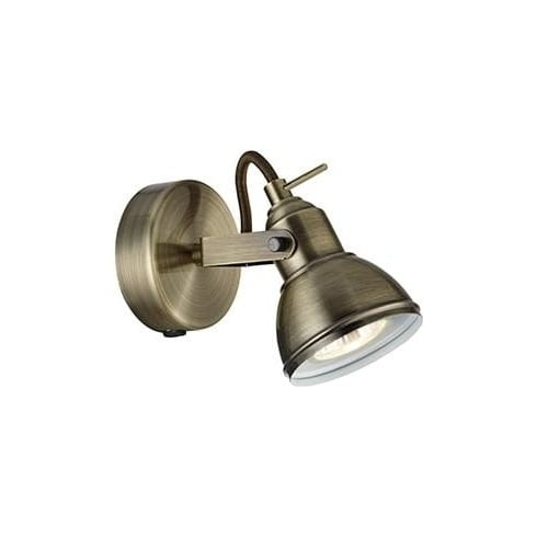 Searchlight Electric Focus 1541AB Antique Brass Wall light