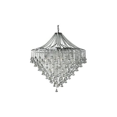 Searchlight Electric Dorchester 3497-7CC Chrome And Crystal Ceiling Light