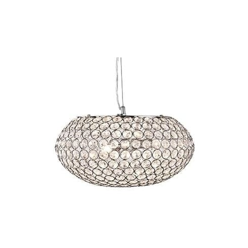 Searchlight Electric Chantilly 7163-3CC Chrome And Crystal Ceiling Light
