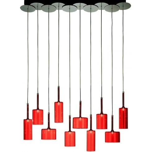 Axo Spillray SPSPIL10RSCR12V Red Pendant Ceiling Light