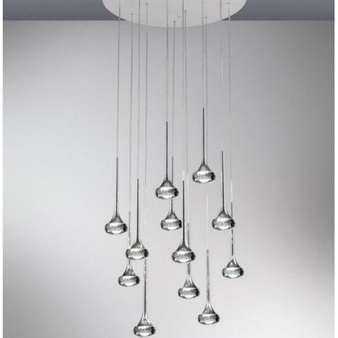 Axo Fairy SPFAIR12GRCRLED Grey Pendant Ceiling Light