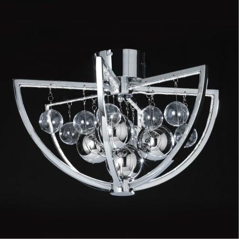 Endon Muni MUNI-CH-F Chrome Semi Flush Ceiling Light