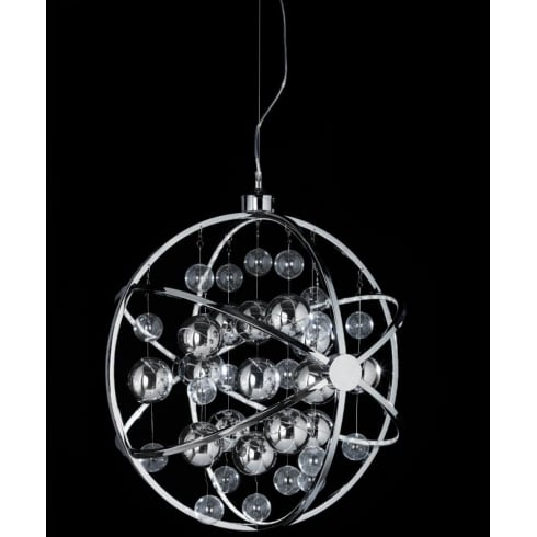 Endon Lighting Muni MUNI-CH-L Chrome Pendant Ceiling Light