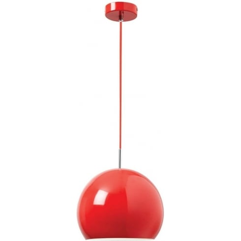 Endon Lighting Alzira ALZIRA-RE Red Pendant Ceiling Light