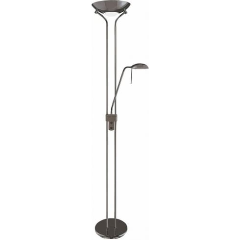 Searchlight Electric Mother and Child 4329BC Black Chrome Floor Lamp