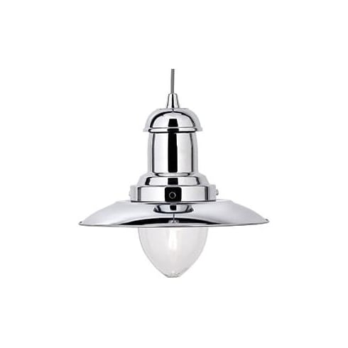 Searchlight Electric Fisherman 4301CC Chrome Pendant Ceiling Light