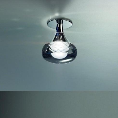 Axo Fairy PLFAIRYIGRCRLED Grey Semi Flush Ceiling Light