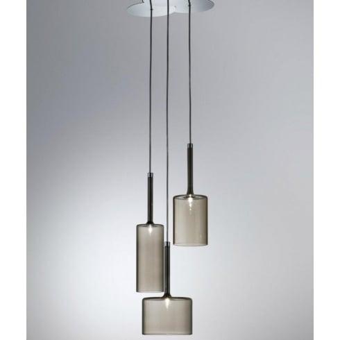 Axo Spillray SPSPILL3GRCR12V Grey Pendant Ceiling Light