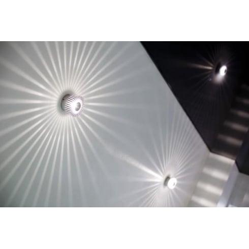 Collingwood WL041 IP WHITE Aluminium LED Wall Light
