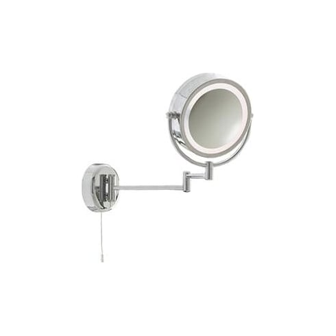 Searchlight Electric Round Bathroom Mirror Light in chrome