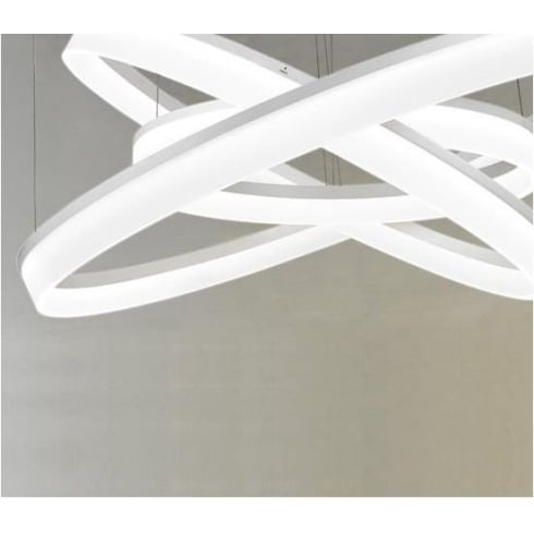 LedsC4 Lighting The Circ 3 rings LED modern ceiling light by GROK