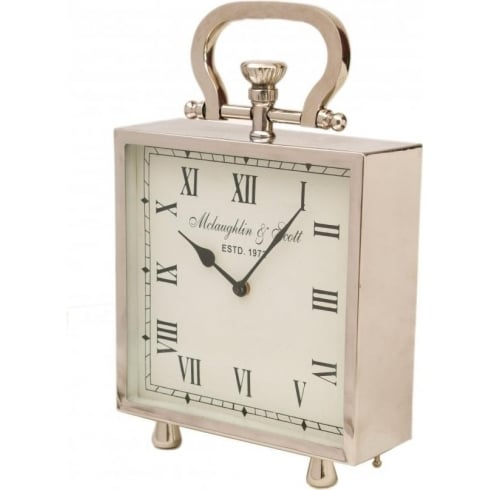 Libra Company Ambassador Small Square Clock 137914 Polished Chrome