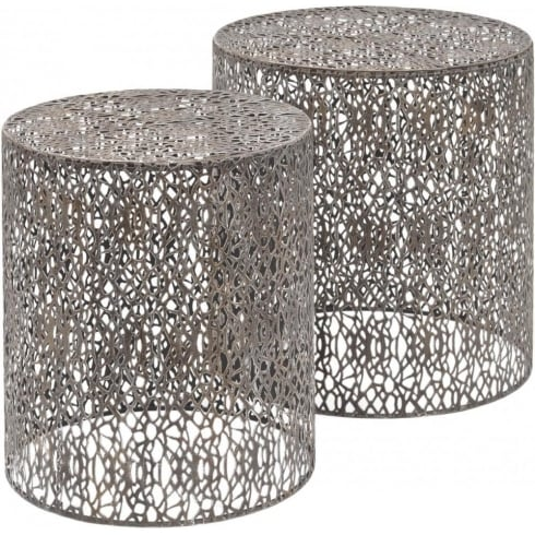 Libra Company Caprio 231154 Set of Two Decorative Grey Nesting Side Tables