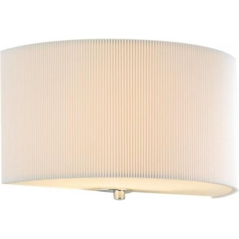 Dar Lighting Zaragoza ZAR0133 Cream Fabric Shade Wall Light