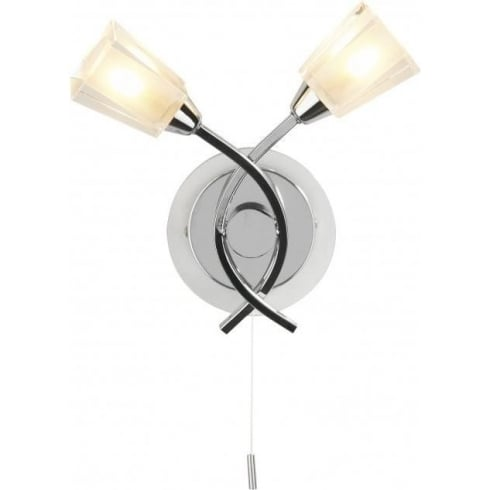 Dar Lighting Austin AUS0950 Polished Chrome Wall Light