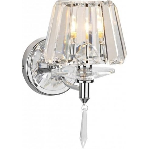 Dar Selina SEL0750 Polished Chrome Wall Light