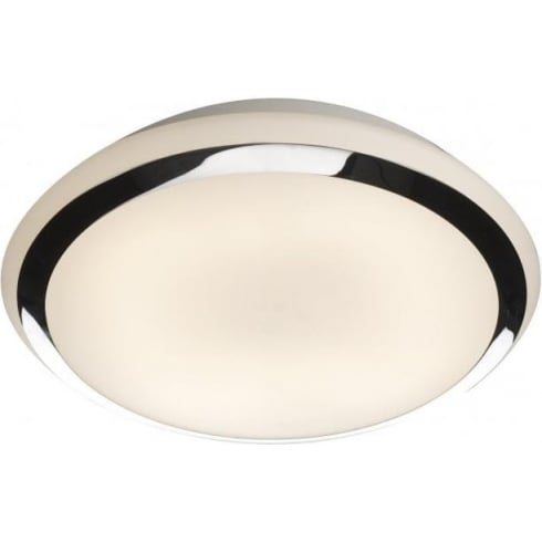 Dar Lighting Riga RIG5050/28LE Polished Chrome IP44 Flush Ceiling Light
