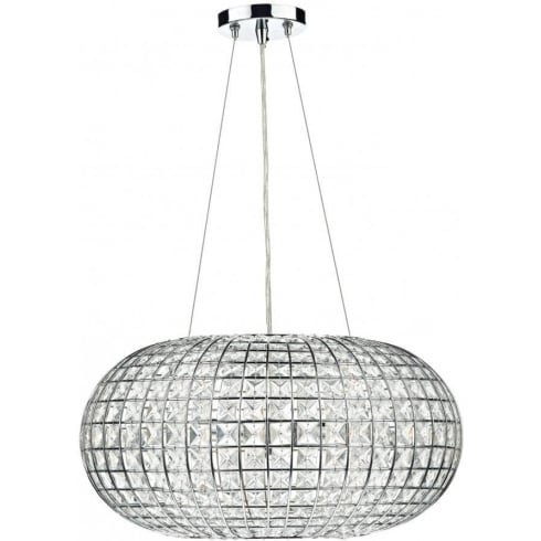 Dar Plaza PLA0350 Polished Chrome 3 Light Pendant