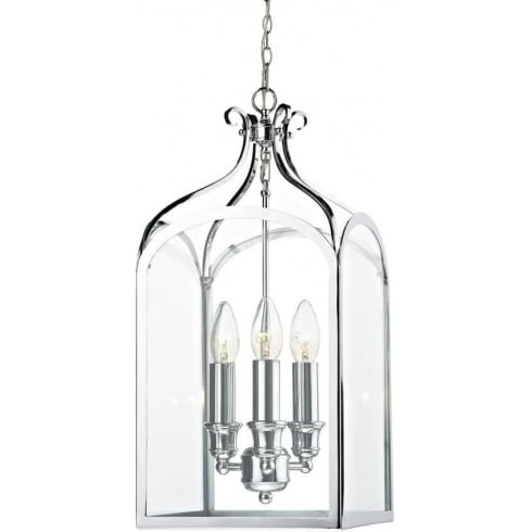 Dar Lighting Senator SEN0350 Polished Chrome 3 Light Pendant