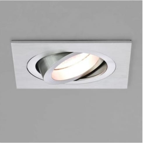 Astro Lighting Taro Adjustable 5638 Brushed Aluminium Square GU10 Recessed Downlight 230V
