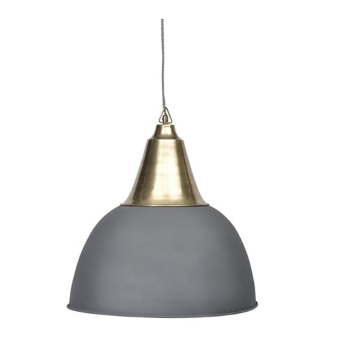 Libra Company Merle 337780 Large Matt Black Pendant Ceiling Light